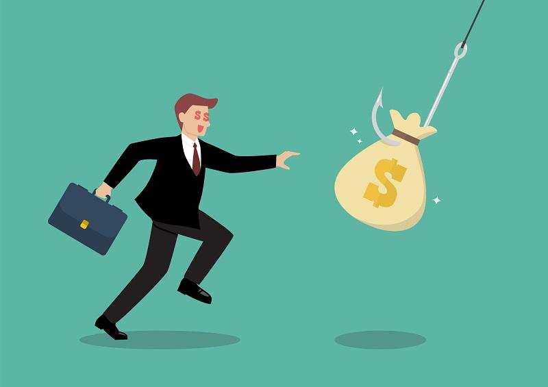 投資詐欺に引っかかる男性