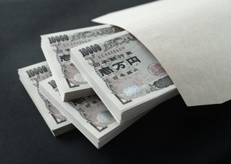 トイチ金融,札束